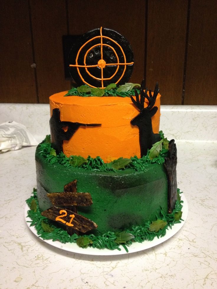 Hunting birthday party decorations party ideas deer hunting party - Hunting Cake Cake Decorating Ideas Pinterest