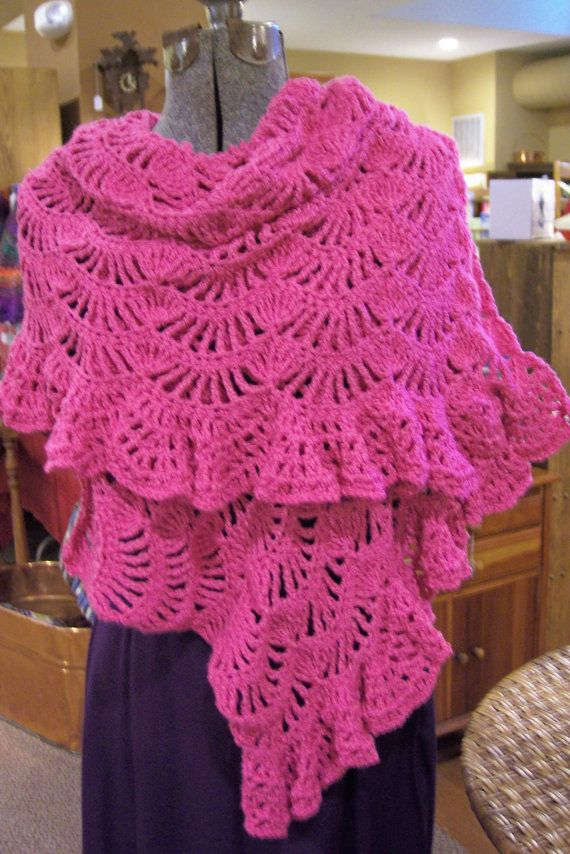 Crochet Prayer Shawl by hendersonmemories on Etsy, $110.00