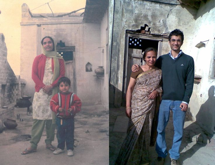 9. Mother and son pic, 20 years apart.