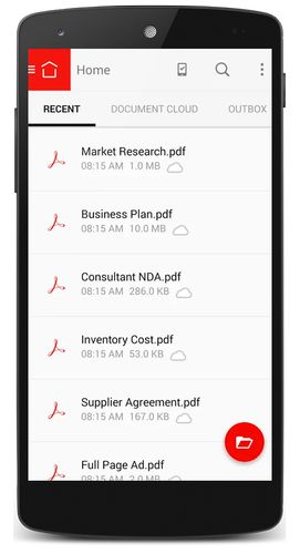 Adobe Acrobat Reader for Android screenshot