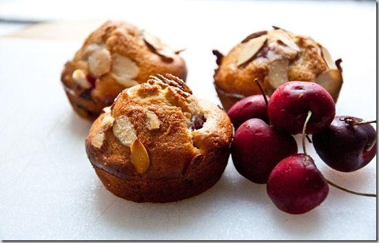 Sour cherry almond muffins | Tasty Food | Pinterest