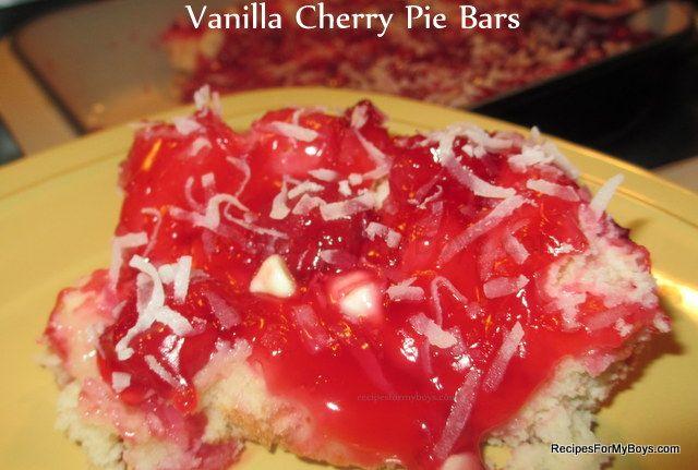 Vanilla Cherry Pie Bars | Recipes I'd like to try | Pinterest