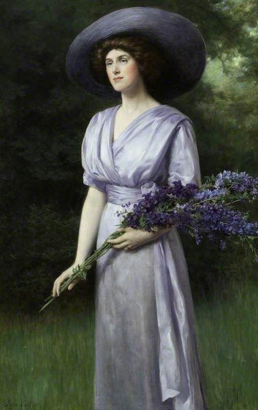 John Maler Collier (1850-1934) —  Doris Allan, Lady Vernon  (504×800)