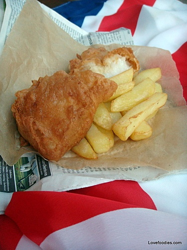 British Beer Battered Fish and Chips. A great British Tradition. Don't ...