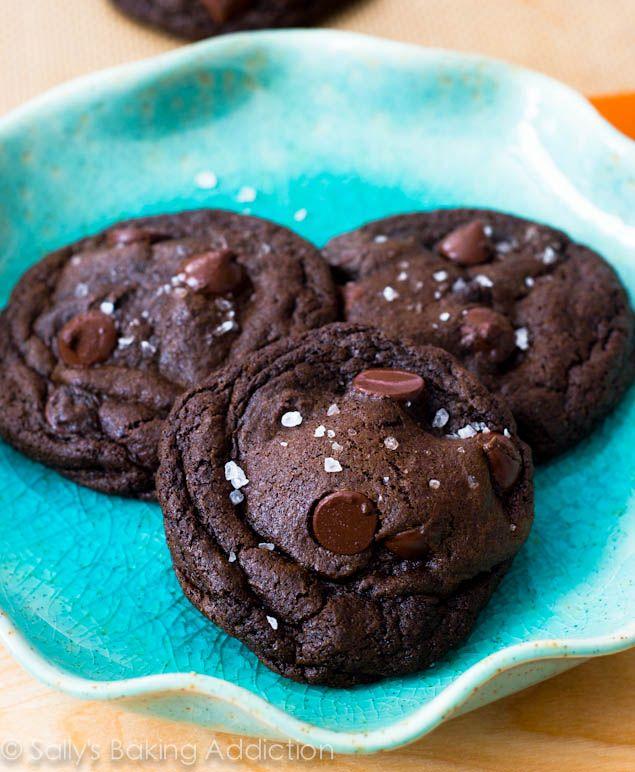 Salted Caramel Dark Chocolate Cookies by sallysbakingaddiction.com