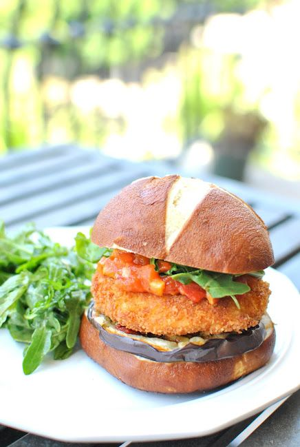 of the few vegetarian burgers that look good! Deep-fried goat cheese ...