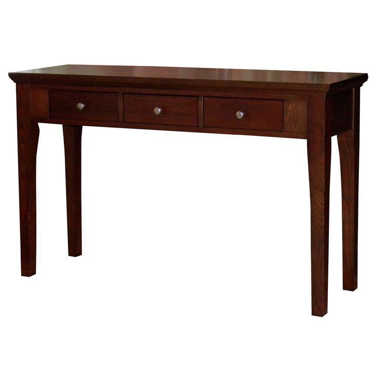 Fraser Three Drawer Mahogany Console Sofa Table