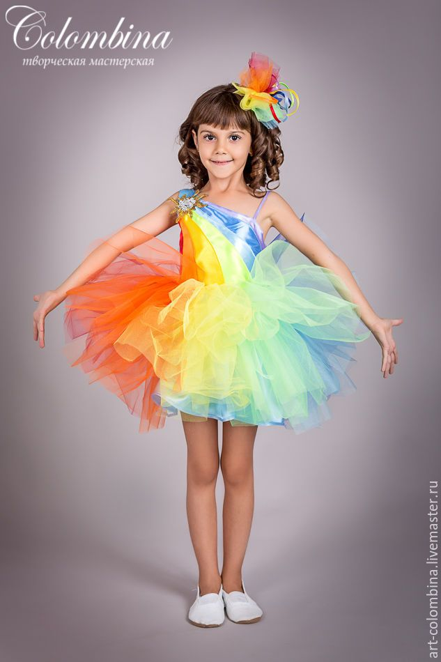 Костюм радуги для девочки своими руками фото