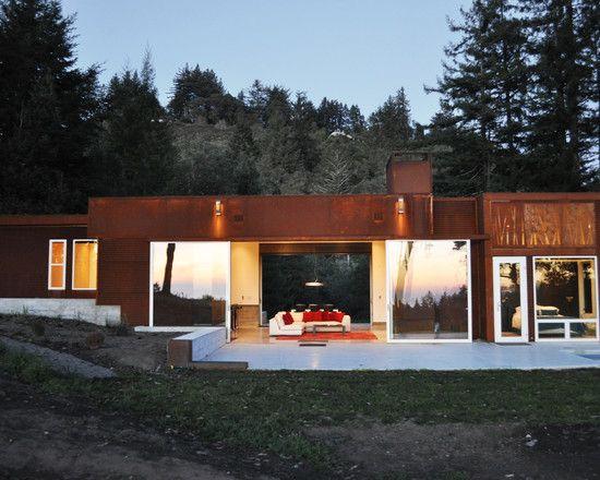 ... : Modern House Design Fern Flat Exterior With Transparent Interior