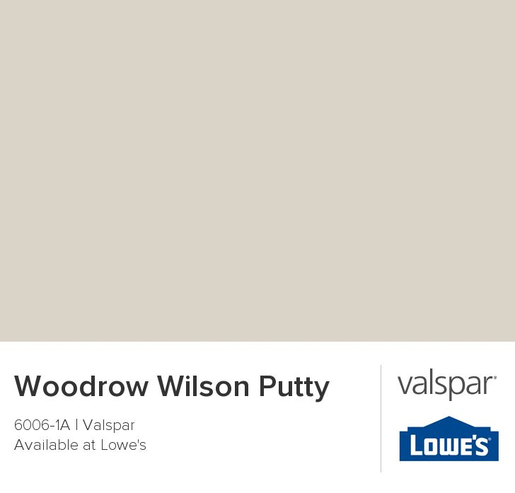 Woodrow Wilson Putty by Valspar {neutral paint colors from Valspar}