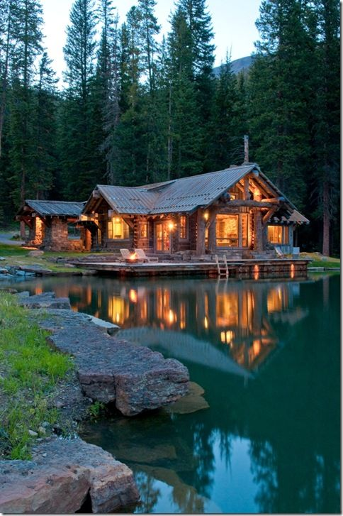 I've always loved the Log Cabin styled homes...so cozy
