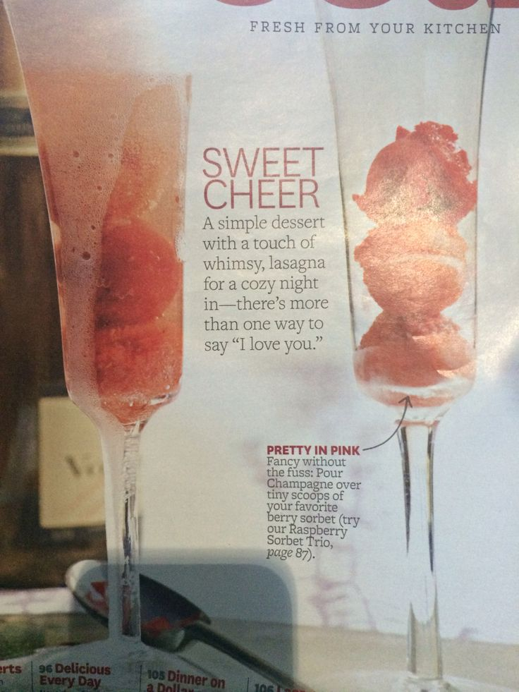 Sorbet & champagne | Fun drinks | Pinterest