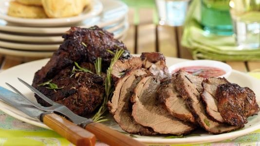 Grilled Butterflied Leg of Lamb with Mint Pepper Jelly | Recipe