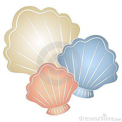 Pastel Seashells Clip Art | Sea shells