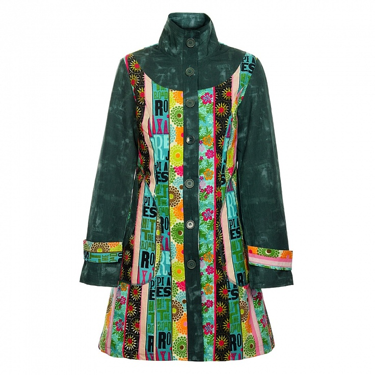 Tmavě zelený kabát