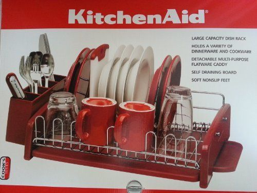 Pin by michelle stoffel on products i love pinterest - Kitchenaid dish rack red ...