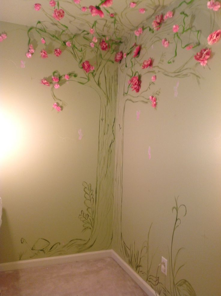 Fairy garden mural for the home pinterest for Fairy garden wall mural