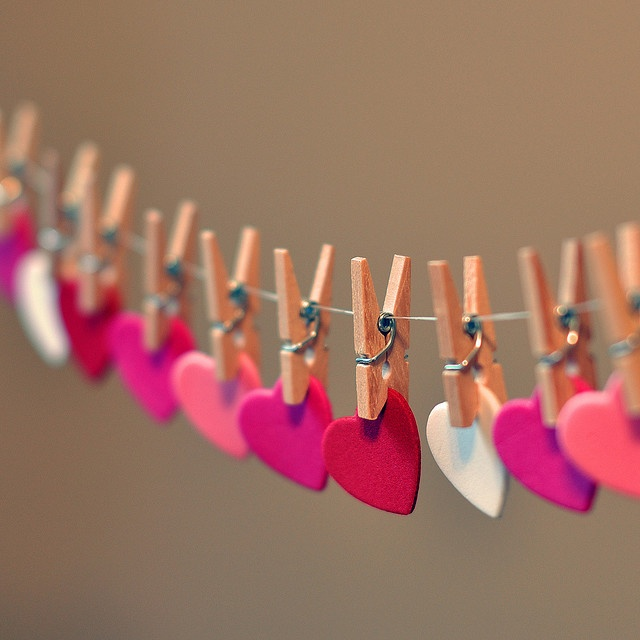 heart garland / valentine's day