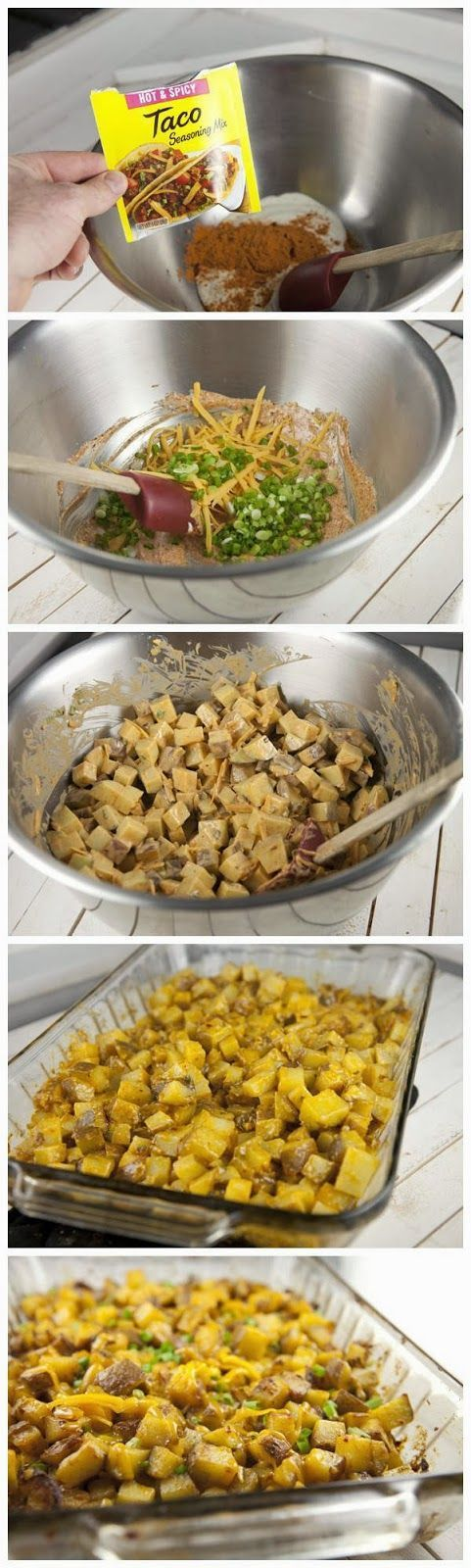 Tex-Mex Ranch Potatoes..   Decadent Dinner Food   Pinterest