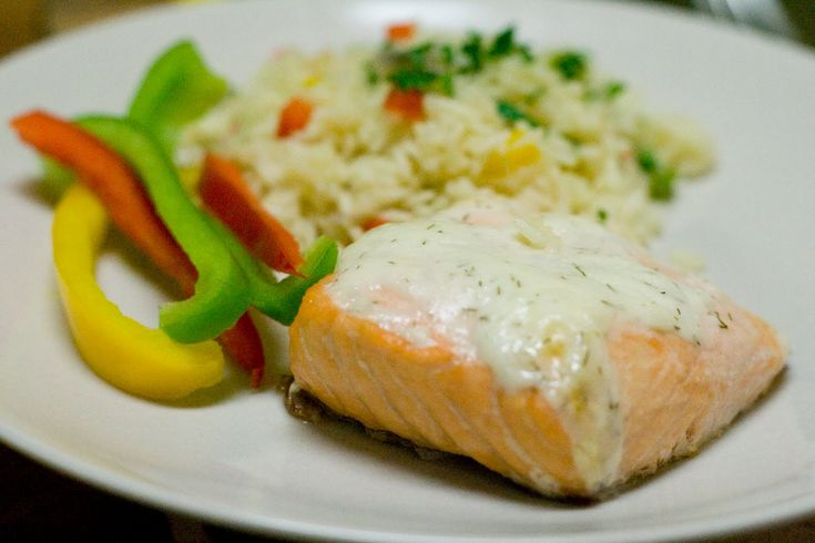 Baked Salmon with Creamy Dill Sauce | Seafood | Pinterest