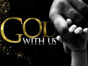 "~God With Us~ Matthew 1:23 NLT ""Look! The virgin will conceive a child! She will give birth to a son, and they will call him Immanuel, which means 'God is with us.'"""