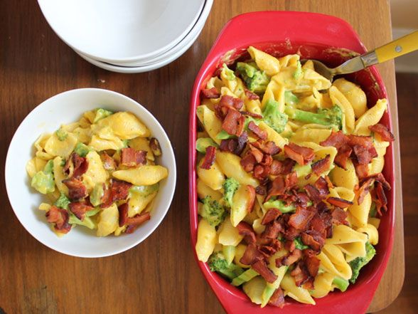Easy Bacon, Broccoli and Cheddar Mac & Cheese Recipe | Devour The Blog ...