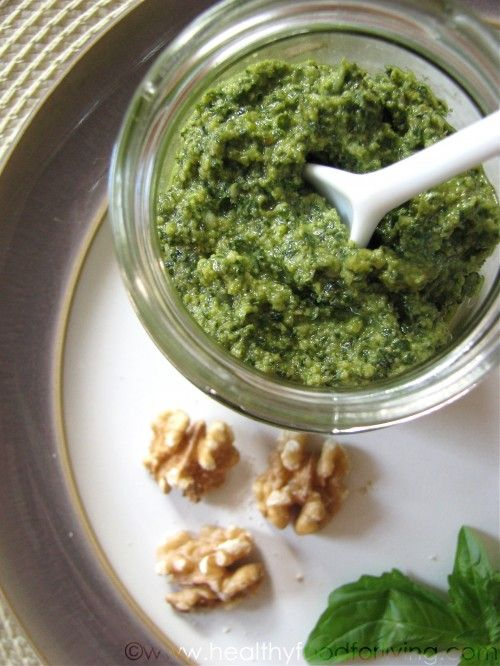 ... and walnut pesto fusilli with parsley walnut and black olive pesto
