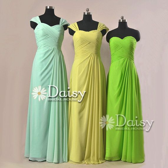 Yellow And Green Bridesmaid Dresses 117