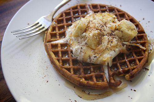 Gluten Free Coconut Waffles!!! | breakfast | Pinterest