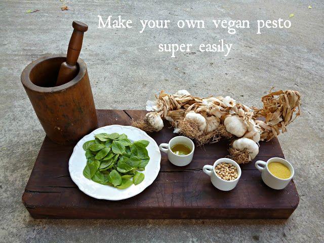 Vegan Basil Pesto Recipe | yum | Pinterest