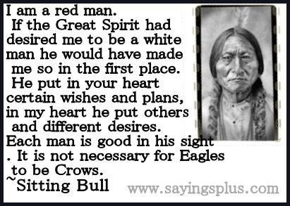 sitting bull quotes  Found on tumblr.com