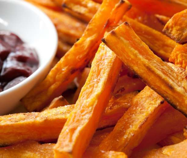 Oven-Baked Sweet Potato Fries | low carb | Pinterest