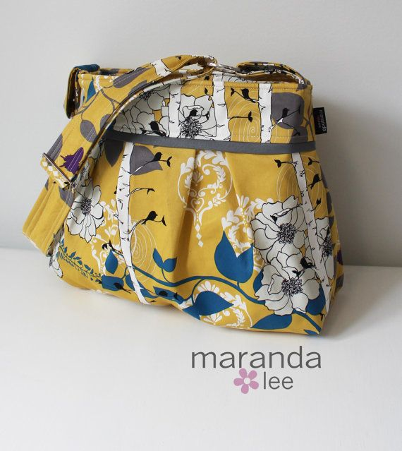 Finnelopy Curry Yellow Diaper Bag