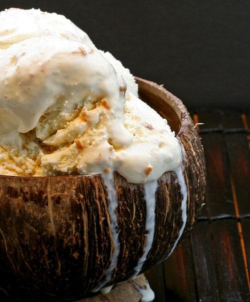 Toasted Coconut-Sesame Brittle Ice Cream | Food | Pinterest