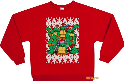Teenage Mutant Ninja Turtles Faux Ugly Christmas Sweater