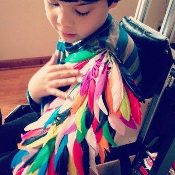 Children's bird wings.