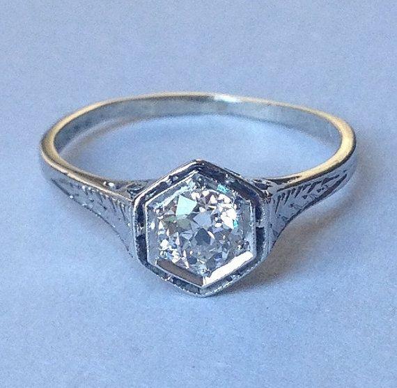 emmaline deco engagement ring