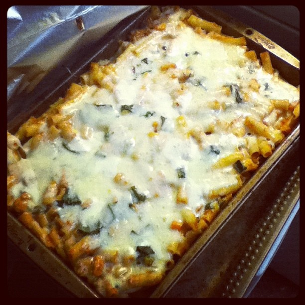 Veggie Baked ziti - great for Lent (my kids ate it up)
