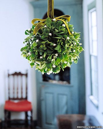 hanging a mistletoe ball this year