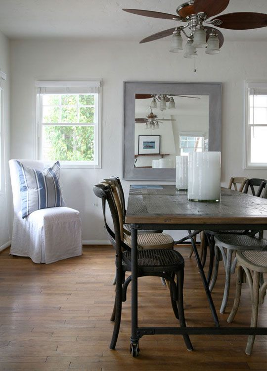 Love the wooden dining table