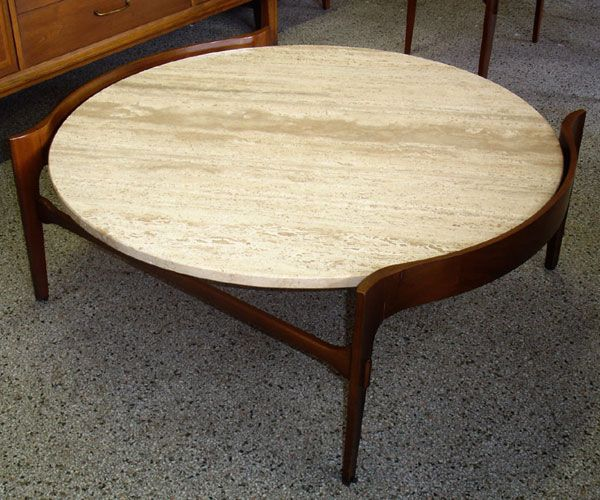 Wood Coffee Table With Granite Top : stone tops  Vintage Mid Century Modern Italian Coffee Table  Furnish ...