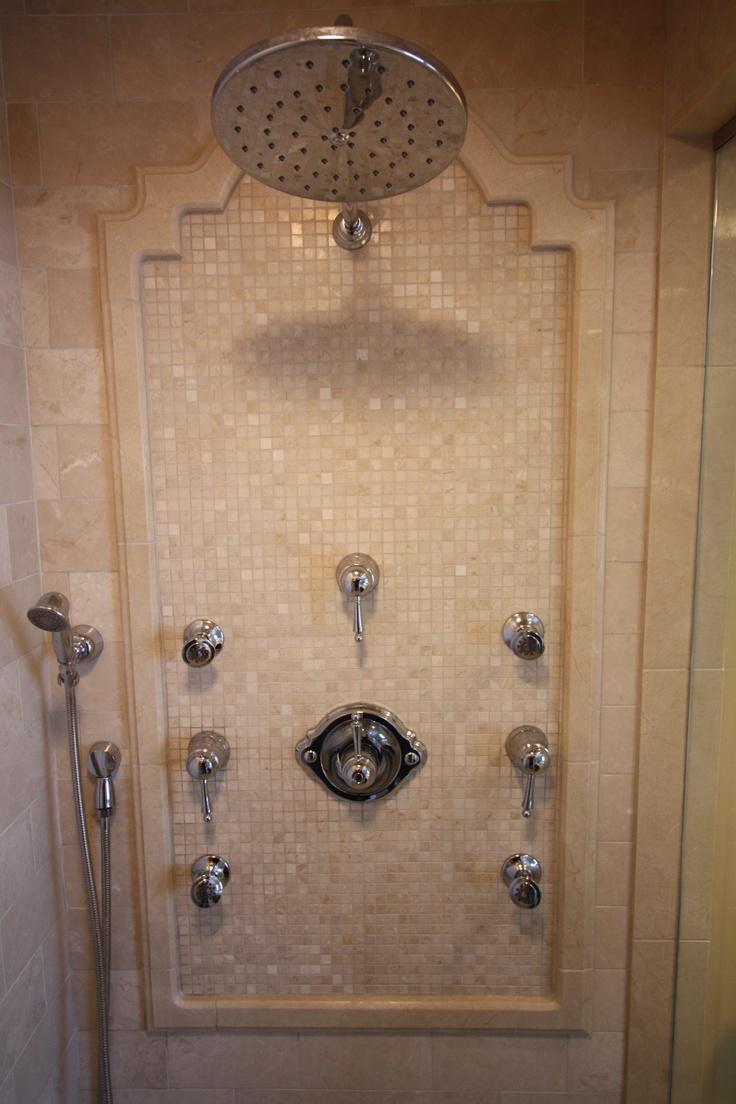 Rain shower head with body sprays bathroom fixtures
