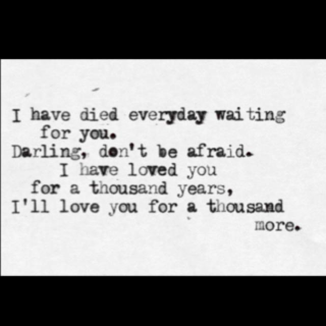 A Thousand Years - Christina Perri | Song Lyrics | Pinterest