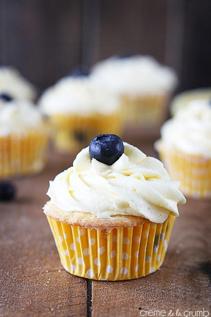 Lemon Blueberry Cupcake recipe   Moist lemon cupcakes loaded with ...