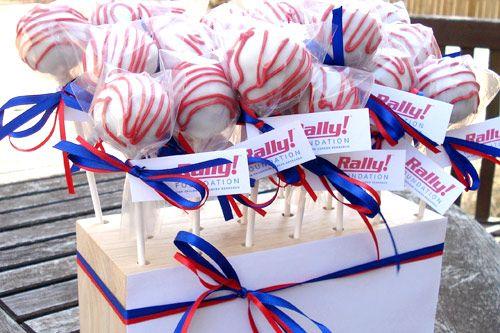 red white and blue cake pops | Cake Pops | Pinterest