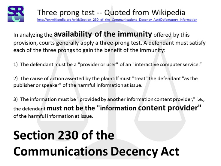 the communications decency act Section 509 of pub l 104–104, which directed amendment of title ii of the communications act of 1934 (47 usc 201 et seq) by adding section 230 at end,.
