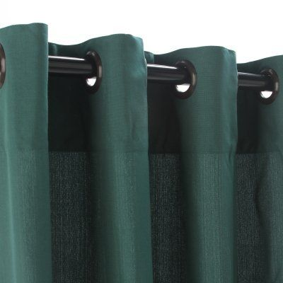 Weathersmart outdoor curtain with grommets green 54x108 by