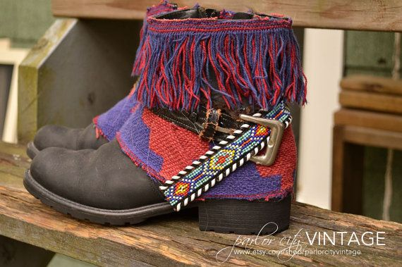 The Javiera Boot  Leather Fringe Boots with by ParlorCityVintage
