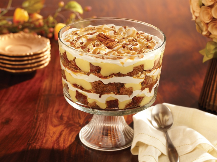 ... Made with Pumpkin Bread, cheesecake pudding, caramel, pecans... YUMMY
