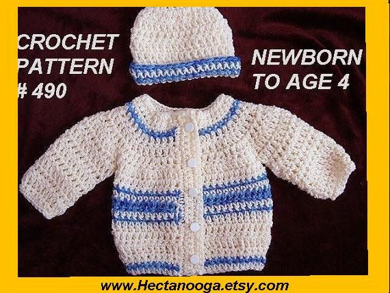 CROCHET PATTERN, baby sweater, baby boy crochet pattern ...